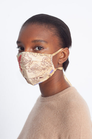 Pleated Saqui Face Mask