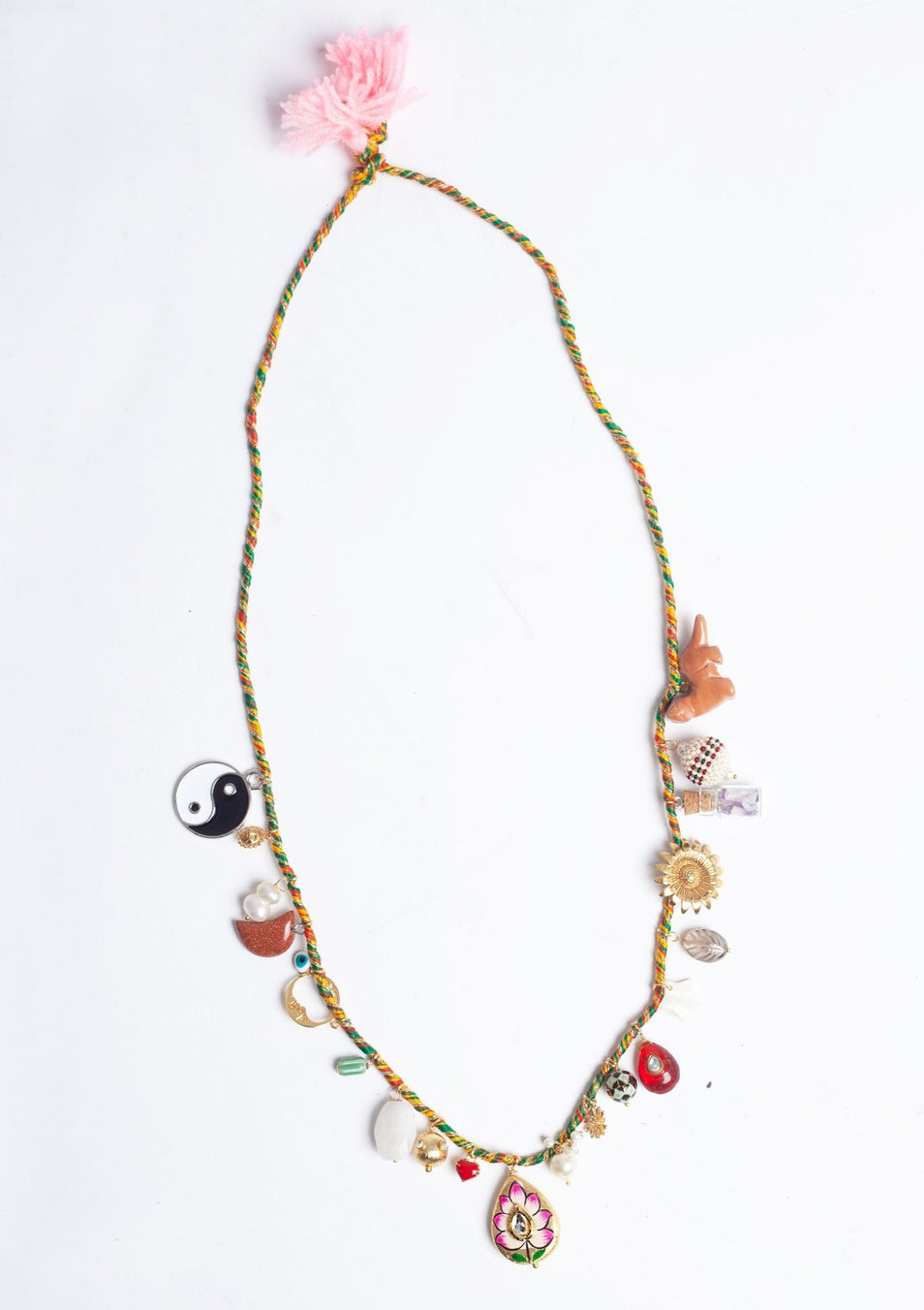 Orange Vert 'Sparkle Gris-Gris' Necklace
