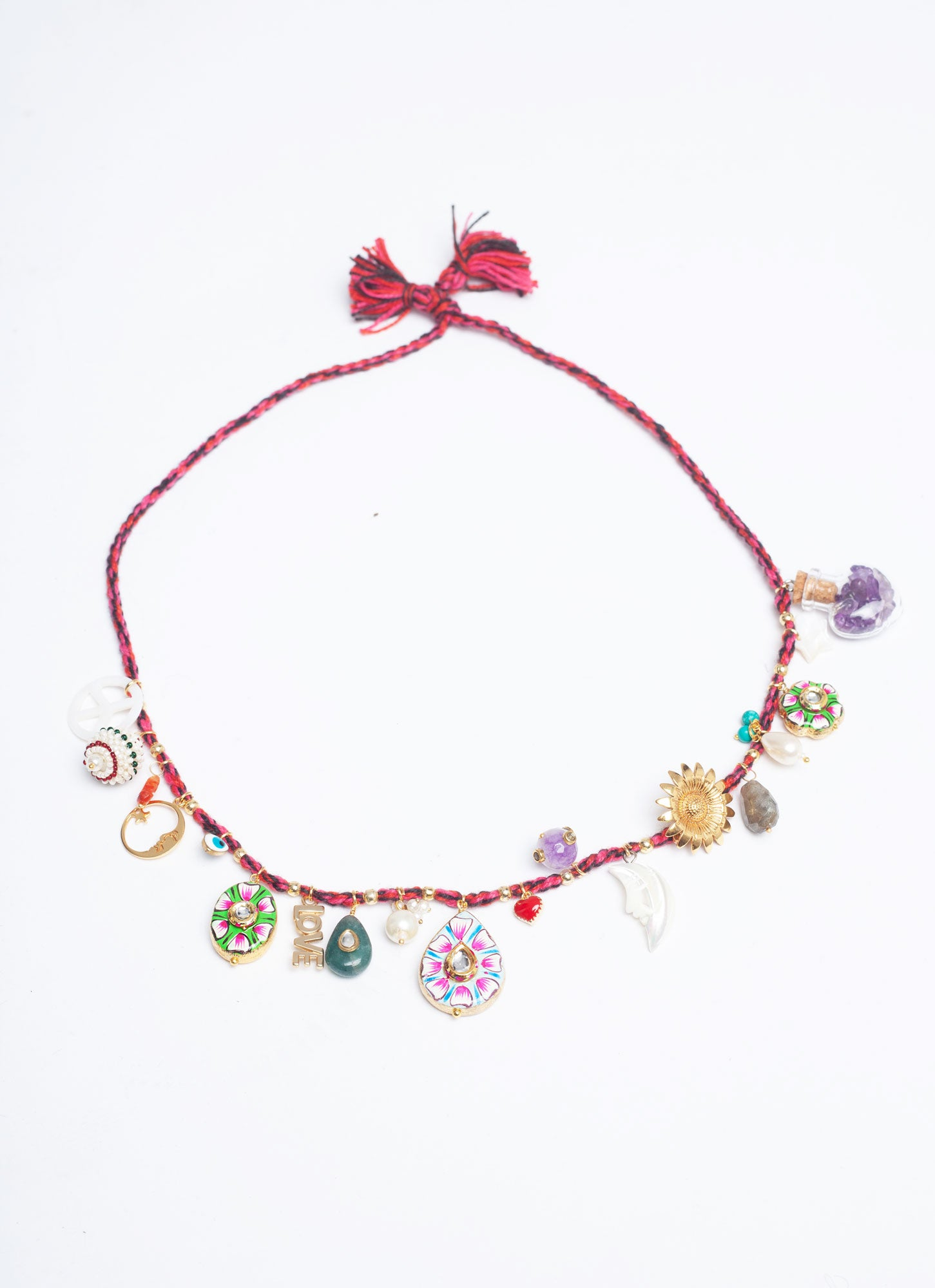 Rouge Cerise 'Surfeur' Necklace