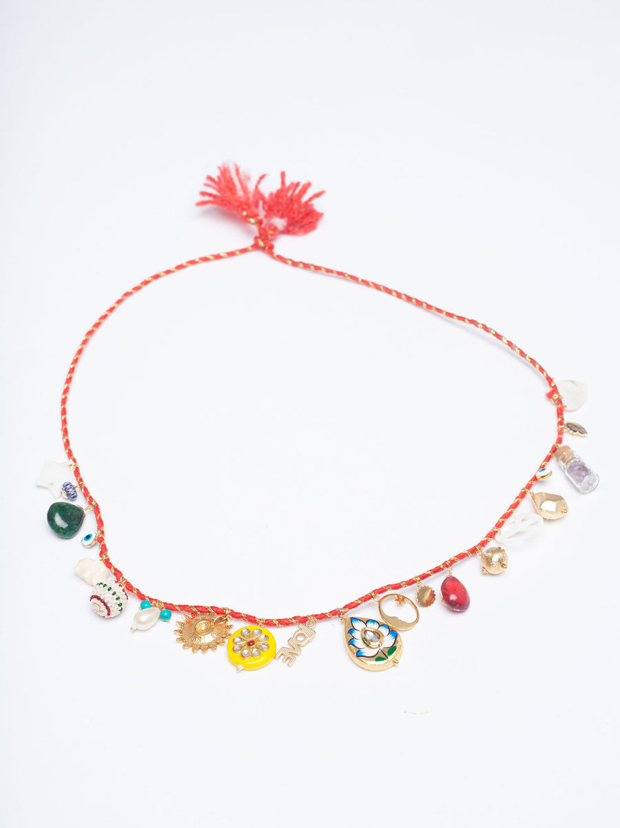 Rouge 'Sparkle Gris-Gris' Necklace