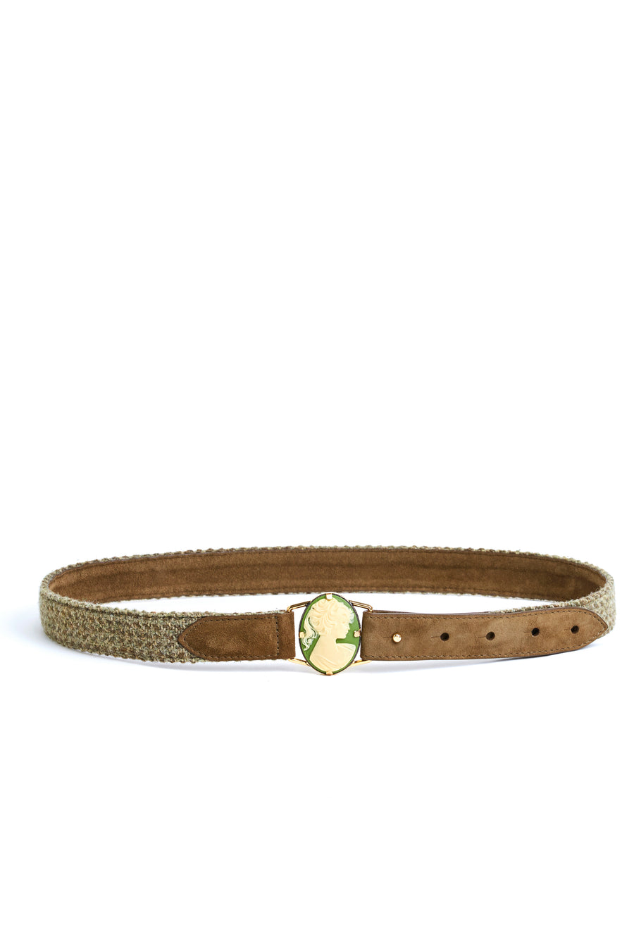 Tweed and Suede 'Camelia' Belt
