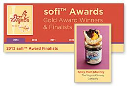 VCC's Spicy Plum Selected as sofi™ Award Finalist, May 2013