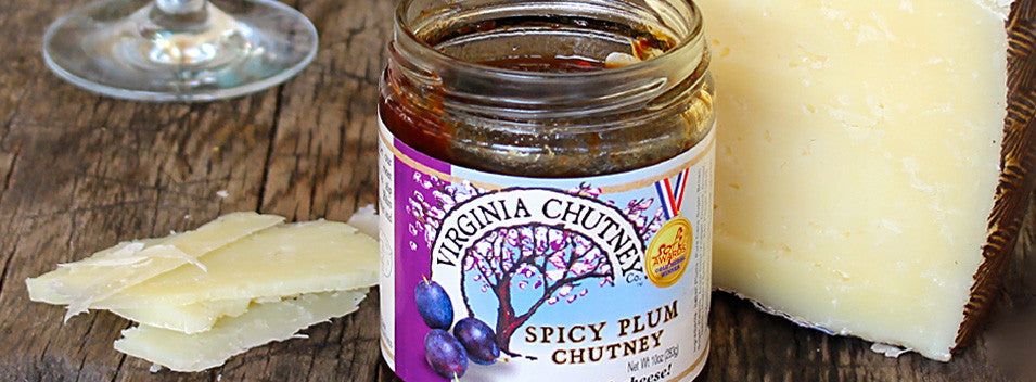 Spicy Plum Chutney and Manchego Cheese