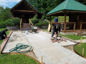 Renovation Begun at Outdoor Chapel & Monastic Cemetery