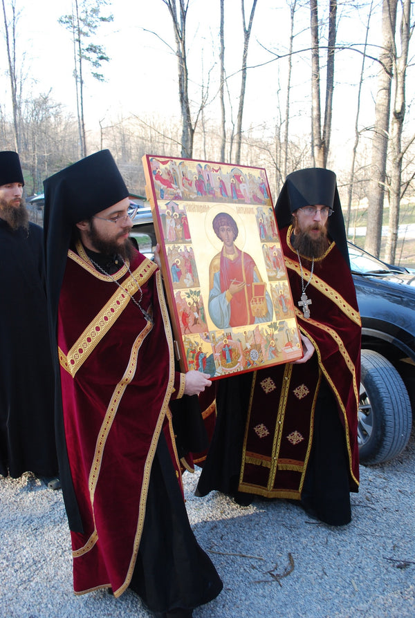 Beautiful New Icon of St. Panteleimon Arrives at the Hermitage