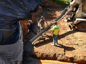 Footer Poured for Foundation of New Building