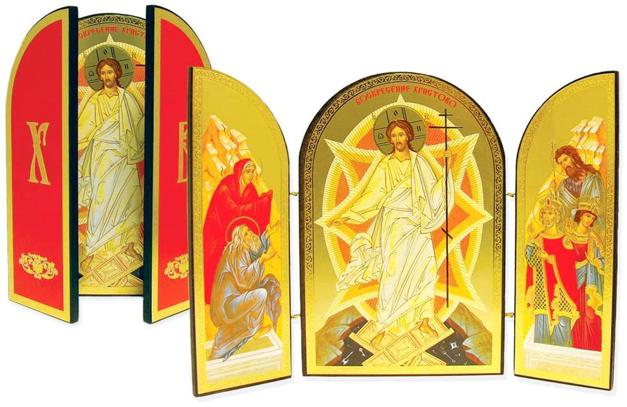 Icon Triptych - The Resurrection of Christ - Holy Cross Monastery