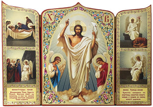 Icon Triptych - The Resurrection of Christ (Large) - Holy Cross Monastery