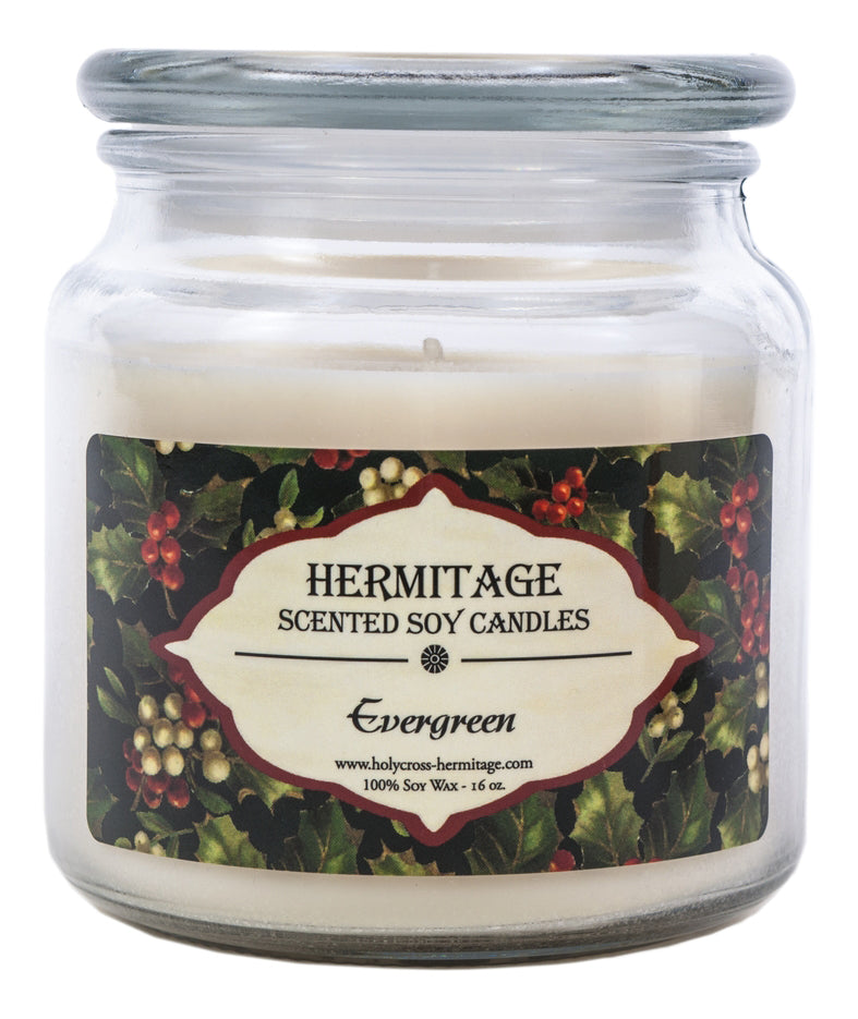 Evergreen Scented Candle - Holy Cross Monastery