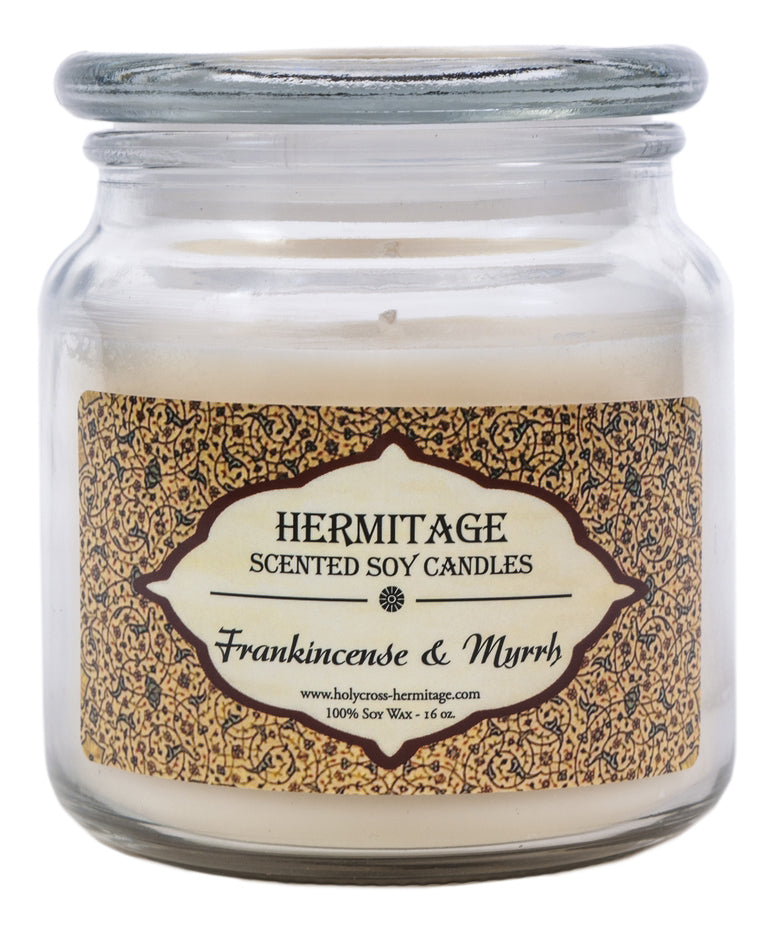 Frankincense & Myrrh Scented Candle - Holy Cross Monastery