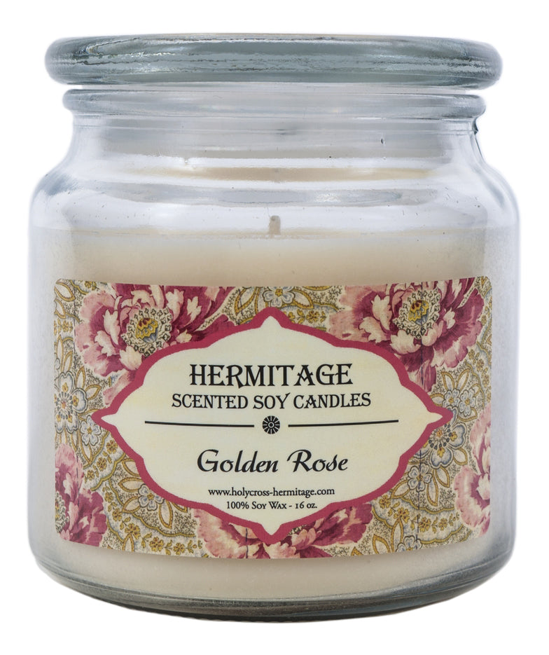 Golden Rose Scented Candle - Holy Cross Monastery