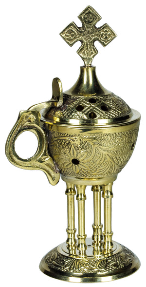 Brass Censer - Pillared Base - Holy Cross Monastery