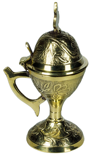 Brass Censer - Floral Pattern