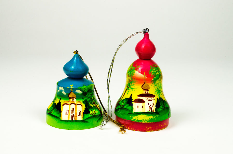 Wooden Bell Ornament