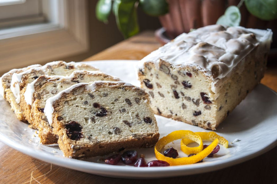 Cranberry Orange Pound Cake made by the Holy Cross Monastery Bakery
