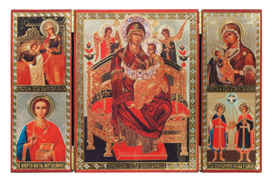 "Icon Triptych - Mother of God ""Healer of Cancer"""