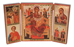 "Icon Triptych - Mother of God ""Healer of Cancer"" - Holy Cross Monastery"