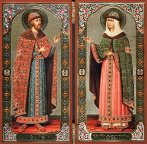 Icon Diptych - Sts. Peter & Fevronia - Holy Cross Monastery