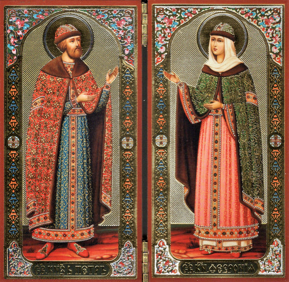 Icon Diptych - Sts. Peter & Fevronia