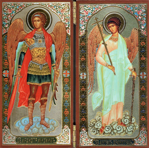 Icon Diptych - Archangel Michael & Guardian Angel - Holy Cross Monastery