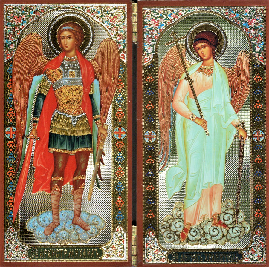 Icon Diptych - Archangel Michael & Guardian Angel