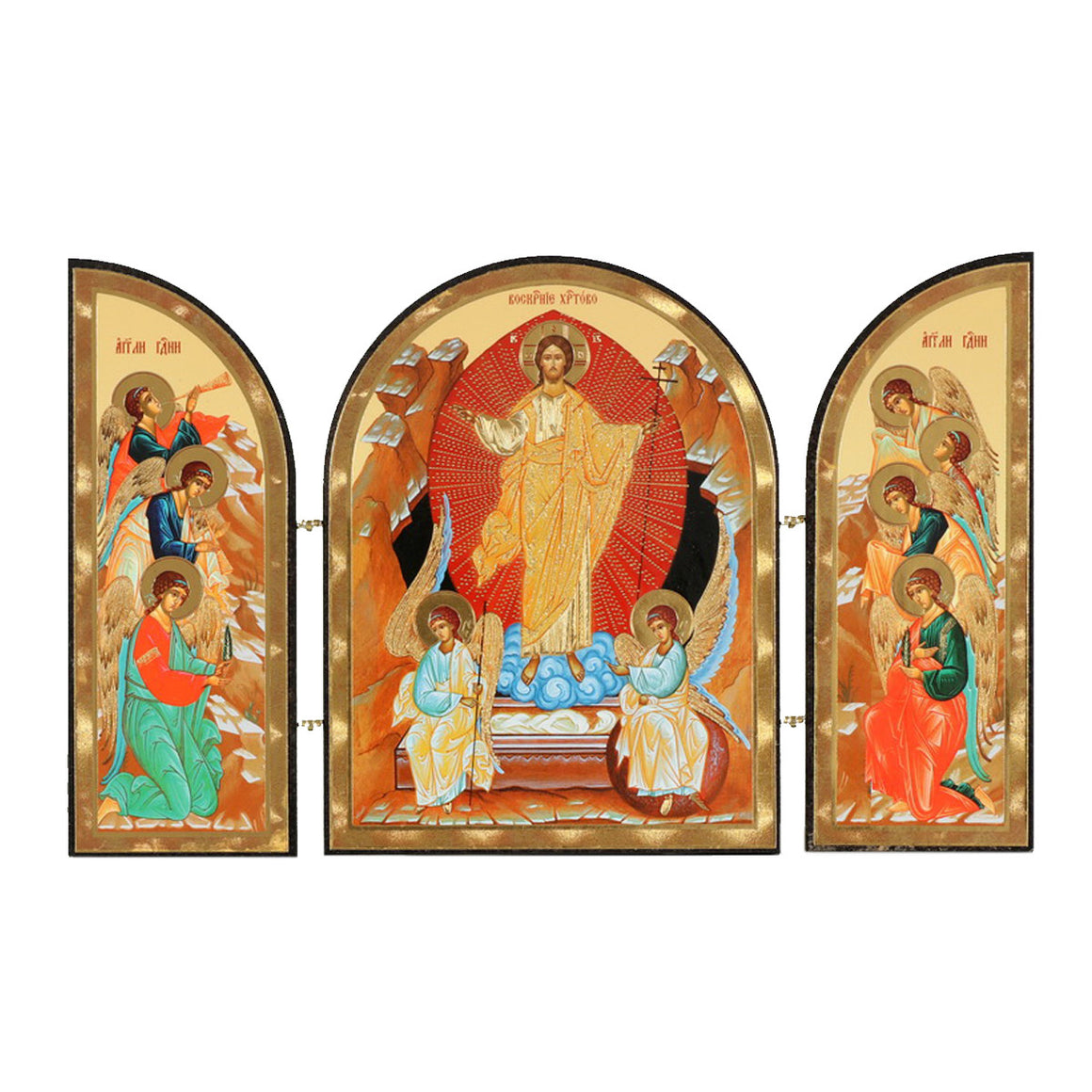 Icon Triptych - The Resurrection of Christ (Small)