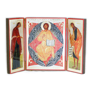 Icon Triptych - Deisis - Holy Cross Monastery