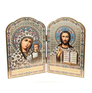 Icon Diptych - Kazan Mother of God & Christ (Large) - Holy Cross Monastery