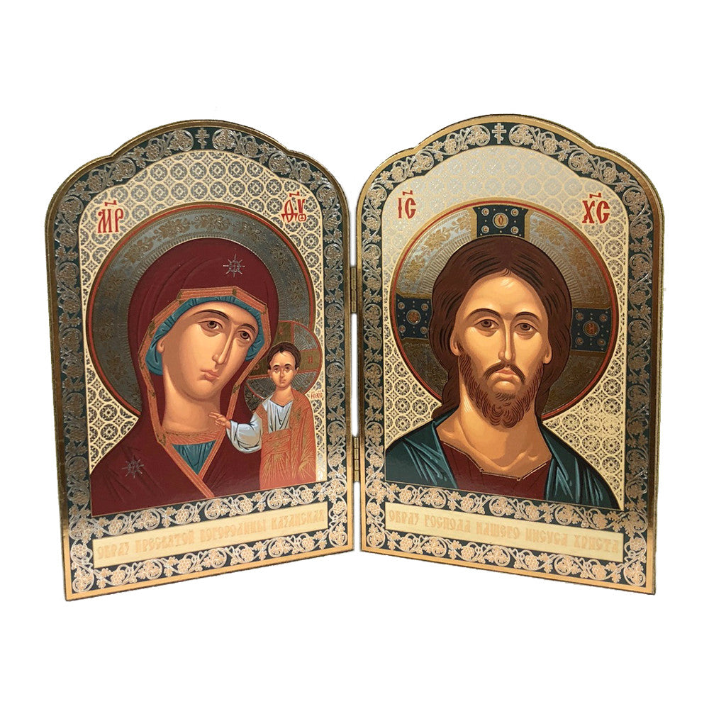 Icon Diptych - Kazan Mother of God & Christ (Large)