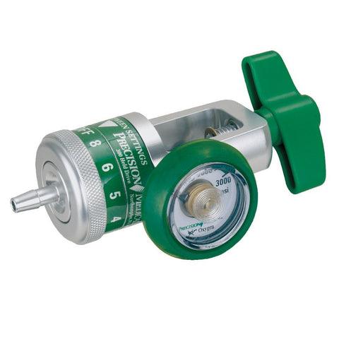 Precision Medical Easy Dial Regulator, Yoke Style 0-8 LPM