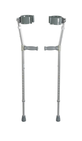 Lightweight Walking Forearm Crutches, Adult, 1 Pair