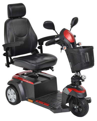 "Drive Medical Ventura Power Scooter, 3 Wheel, 20"" Captains Seat"