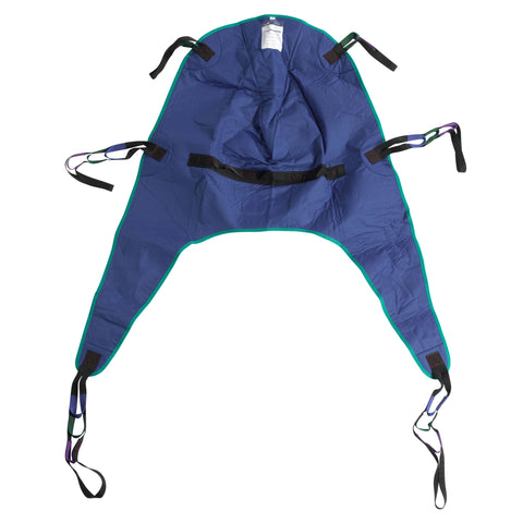 Divided Leg Patient Lift Sling with Headrest, Large