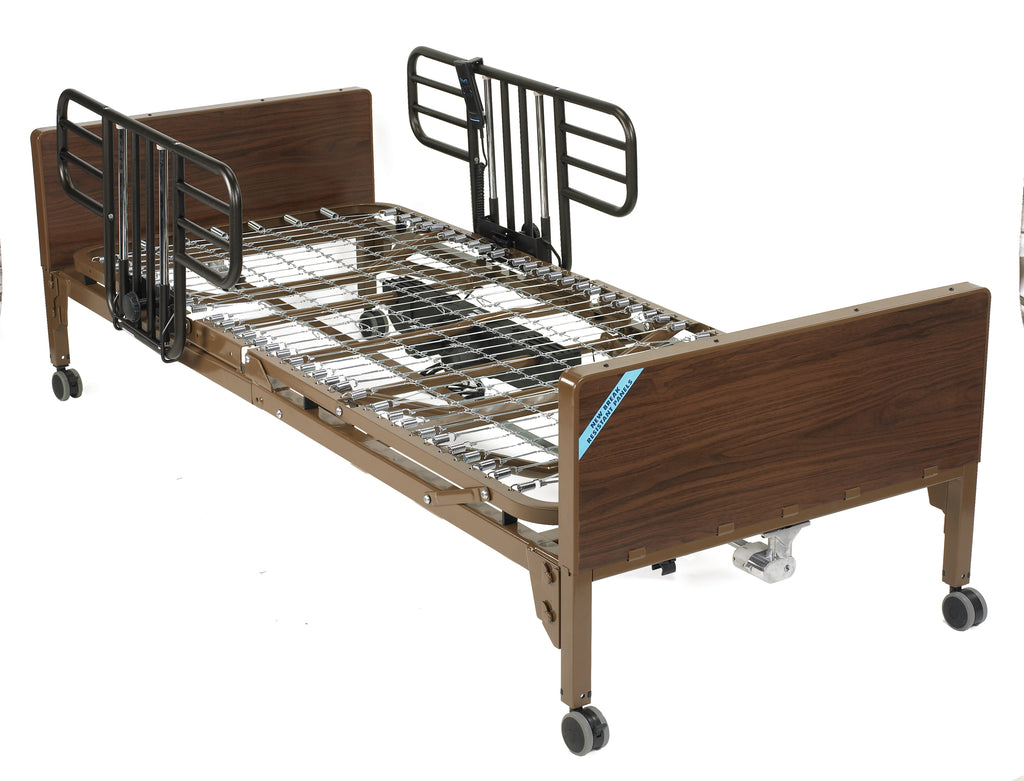 Delta Full Electric Hospital Bed with Half Rails