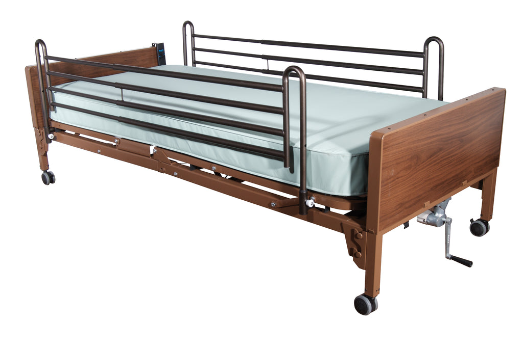 Delta Ultra Light Full Electric Hospital Bed with Full Rails and Innerspring Mattress