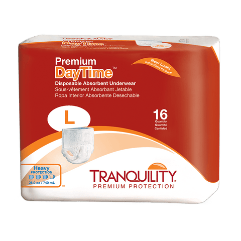 Tranquility Premium DayTime Disposable Absorbent Underwear (Large)