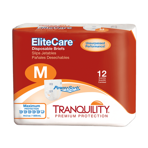 Tranquility EliteCare Disposable Briefs (Medium)