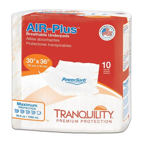 "Tranquility AIR-Plus Breathable Underpad 30"" x 36"""