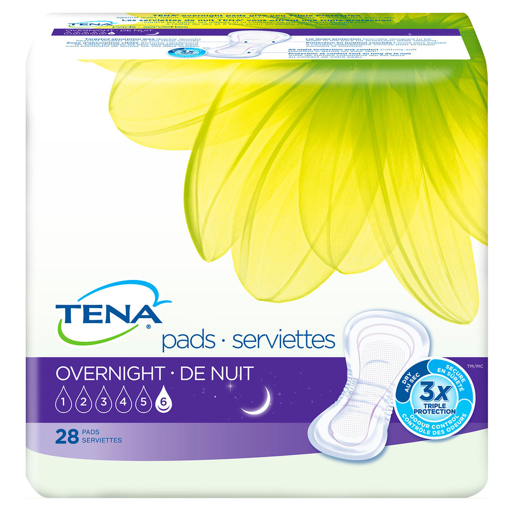TENA Overnight Pads (case of 84)