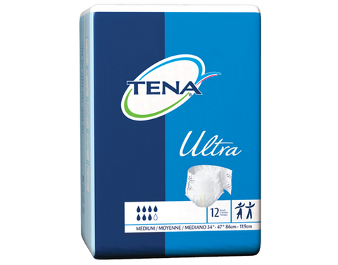 "TENA Ultra Brief - Medium ""white"" (case of 80)"