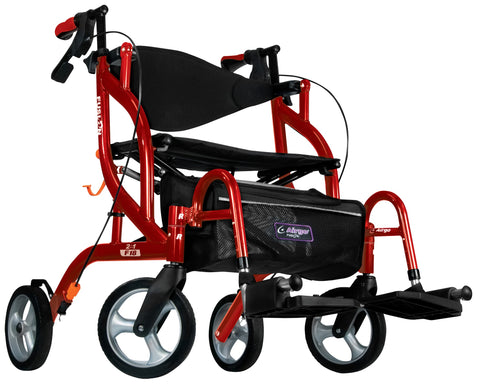 Airgo Fusion F18 Side-Folding Rollator & Transport Chair