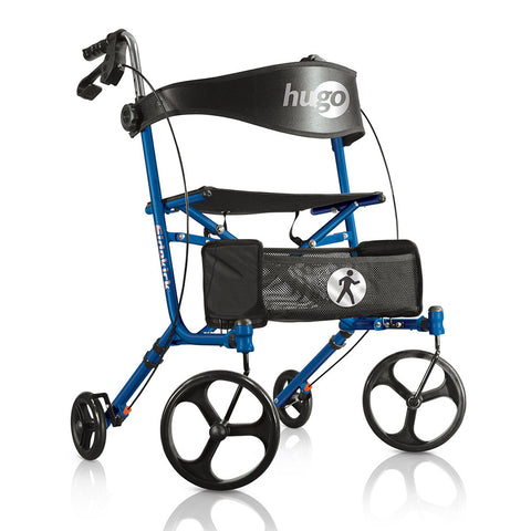 Sidekick Side-Folding Walker Rollator With Seat, Blueberry