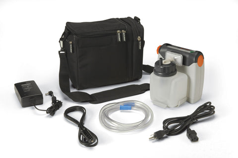 Vacu-Aide Compact Suction Unit with 725cc Reusable Bottle and Carrying Case