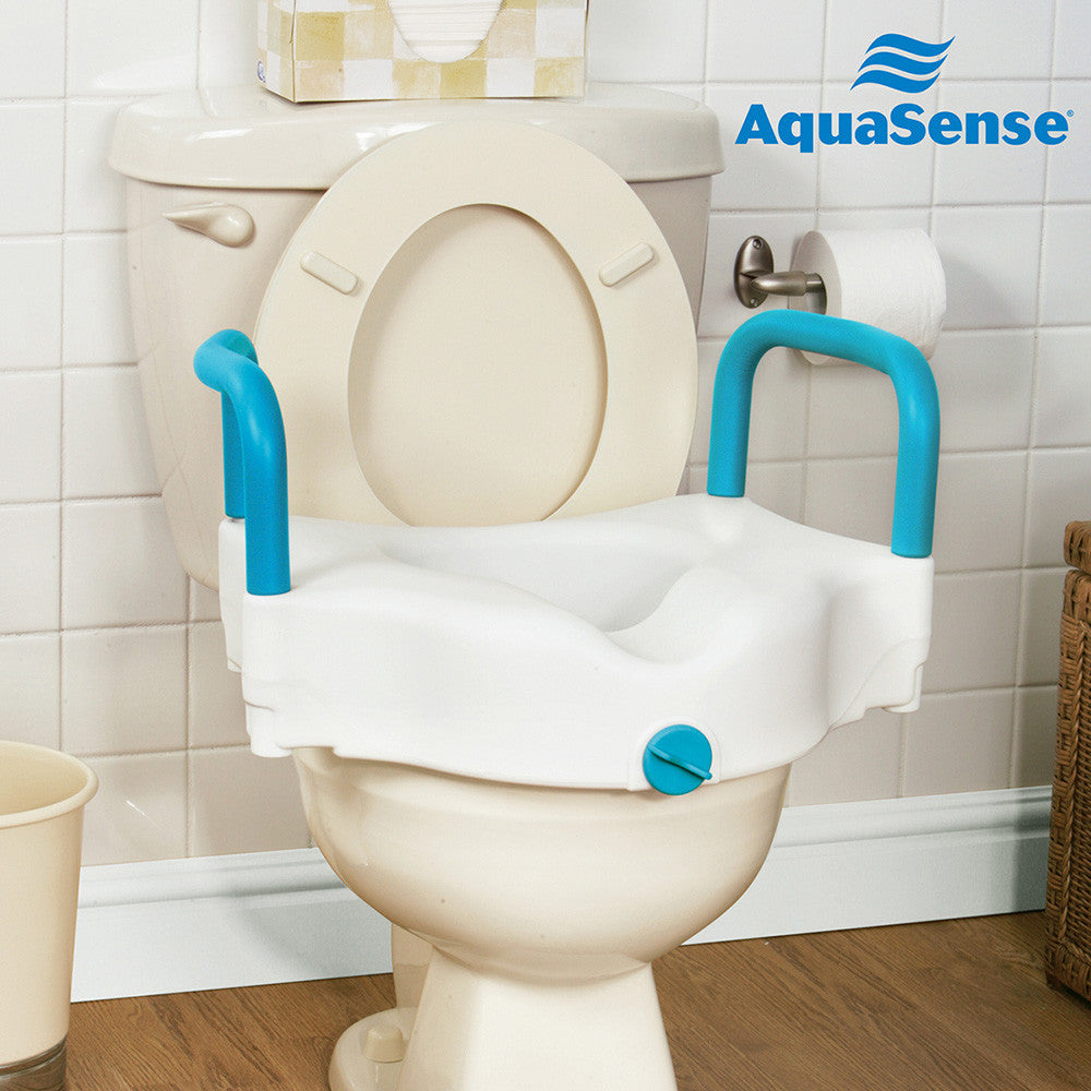 3-Way Raised Toilet Seat, White, 4""