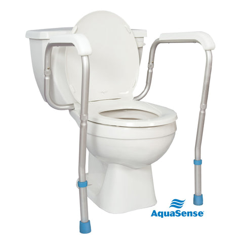 AquaSense Adjustable Toilet Safety Rails, to Floor