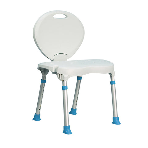 Aquasense Folding Bath and Shower Chair with Non-Slip Seat and Backrest