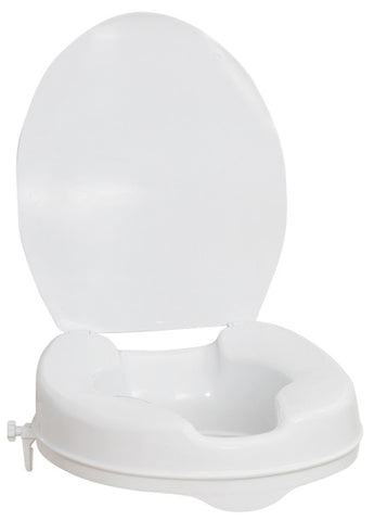 "AquaSense 4"" Elongated Raised Toilet Seat with Lid"