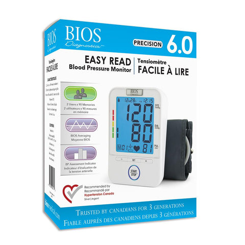 BIOS Diagnostic Precision Series 6.0 Easy Read Blood Pressure Monitor