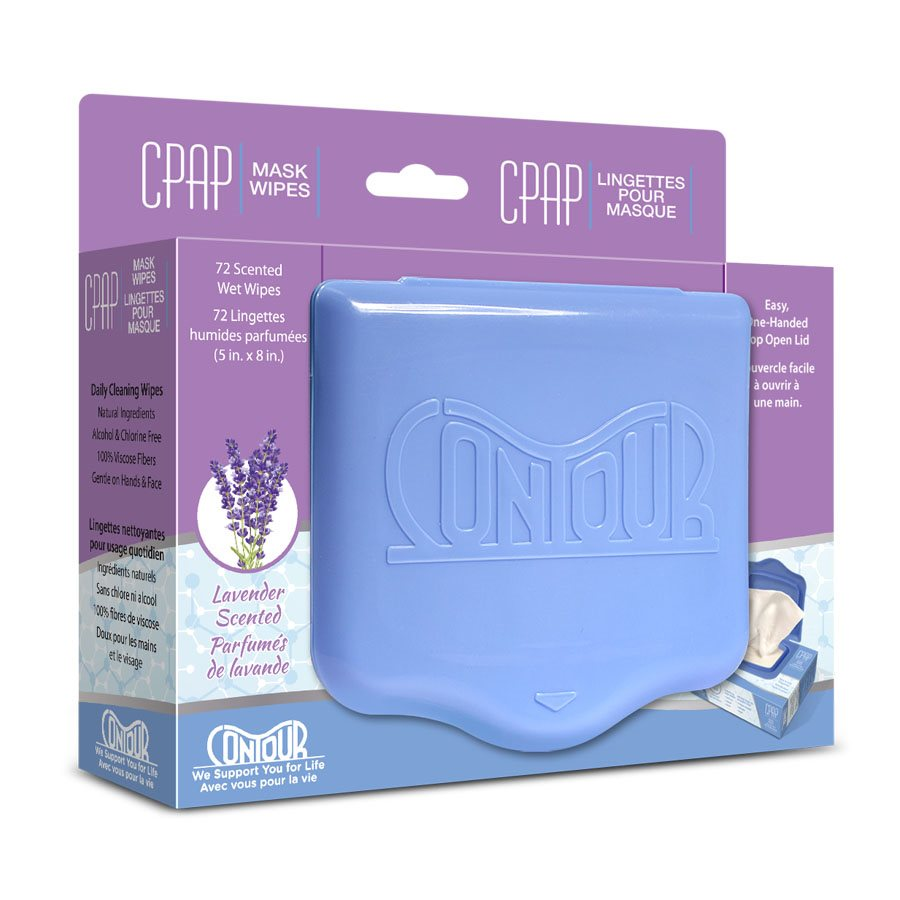 Contour CPAP Wipes, Lavender Scent 72 Wipes/Pack