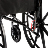 "Cruiser X4 Lightweight Dual Axle Wheelchair with Adjustable Detachable Arms, Desk Arms, Swing Away Footrests, 16"" Seat"